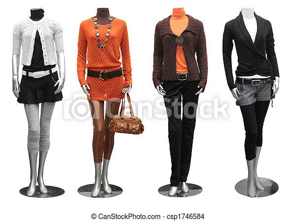 klæde, mannequin, mode - csp1746584