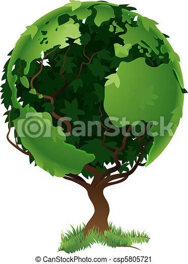 klode verden, begreb, træ - csp5805721