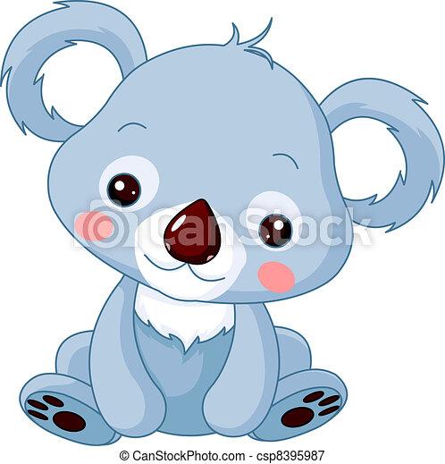 koala, morskab, zoo. - csp8395987