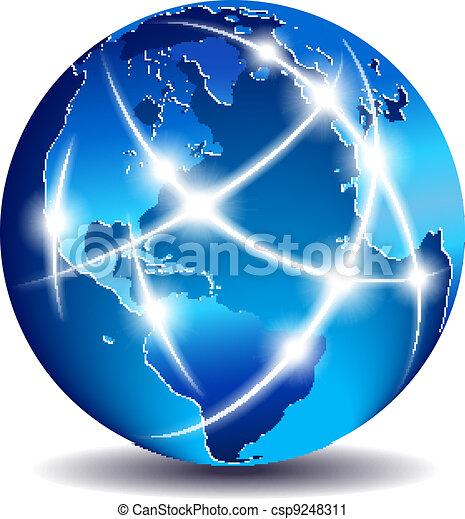 kommunikation, globale, verden, handel - csp9248311