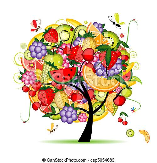 konstruktion, energi, frugt træ, din - csp5054683