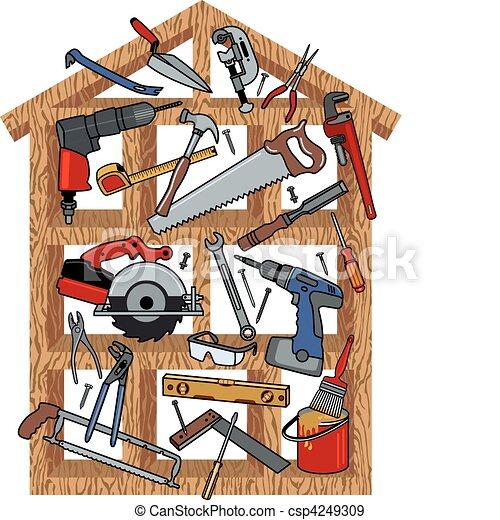 konstruktion, hus - csp4249309