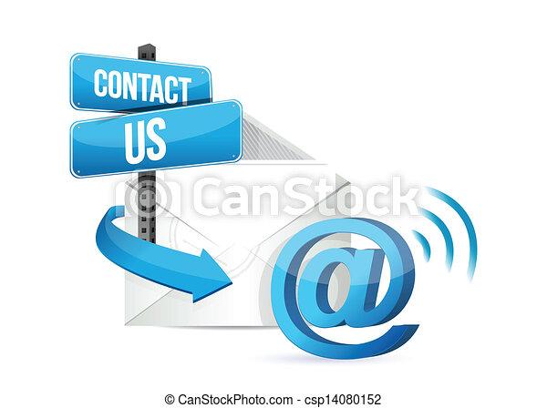 kontakt, online, email, os, tegn - csp14080152