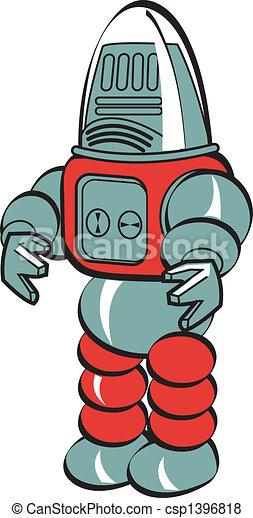 kunst, robot, hæfte - csp1396818