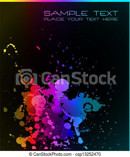 kunstneriske, væske, baggrund, grunge, nedgange - csp13252470