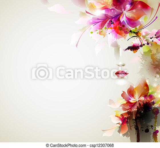 kvinder, mode - csp12307068