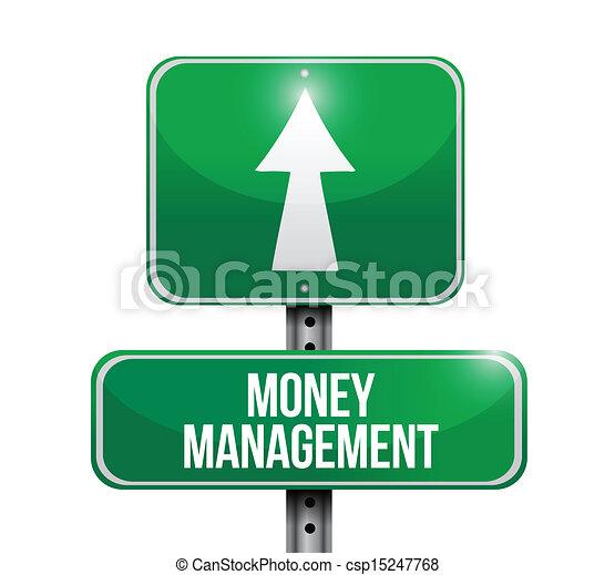 ledelse penge, vej, illustration, tegn - csp15247768