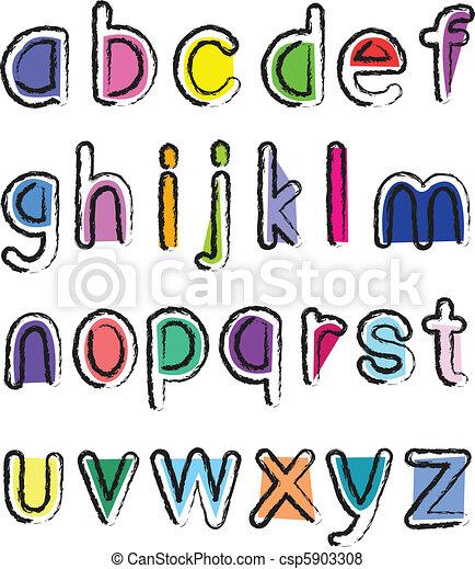 lille, alfabet, kunstneriske - csp5903308