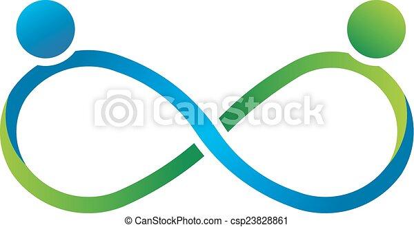 logo, uendelighed, ledsagere, teamwork - csp23828861