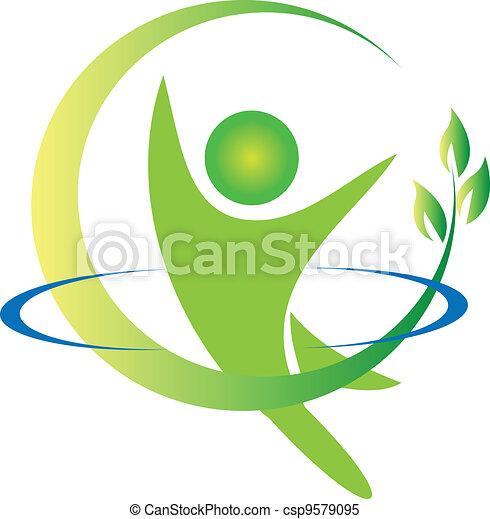 logo, vektor, sundhed, natur - csp9579095