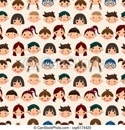 mønster, barn, seamless, zeseed - csp6174420