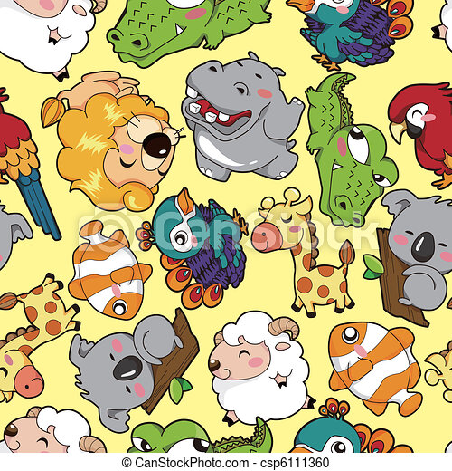 mønster, dyr, seamless - csp6111360