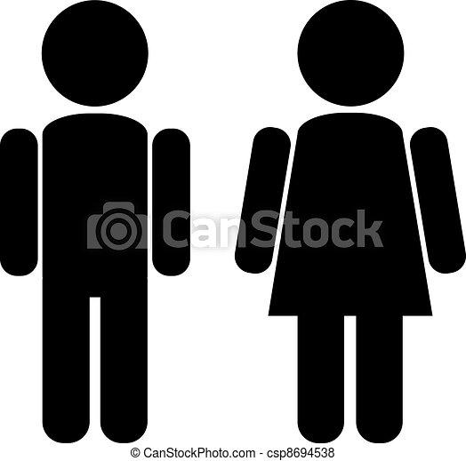 mandlig, kvindelig - csp8694538