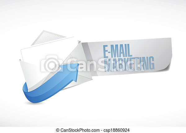markedsføring, konstruktion, email, illustration, tegn - csp18860924