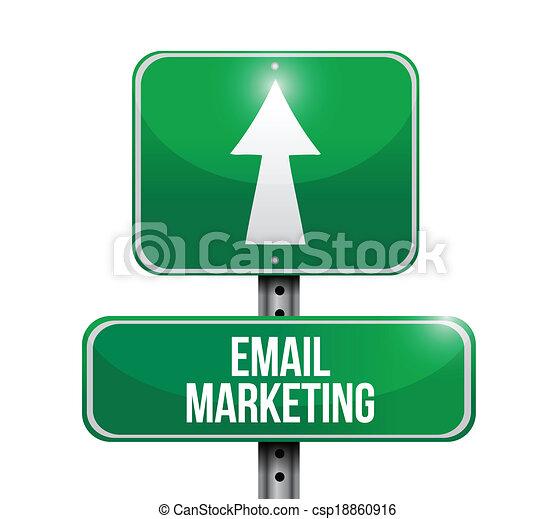 markedsføring, konstruktion, email, illustration, tegn - csp18860916