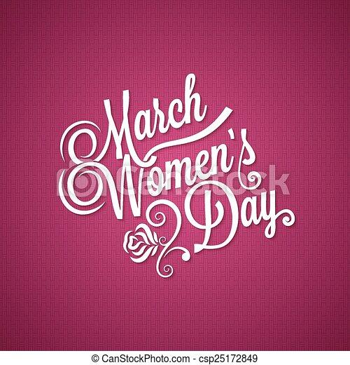 marts, vinhøst, baggrund, 8, dag, kvinder - csp25172849