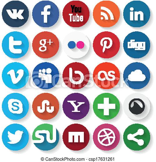 medier, sociale, iconerne - csp17631261