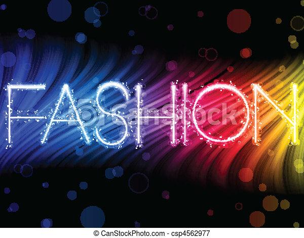 mode, farverig, abstrakt, sort baggrund, bølger - csp4562977