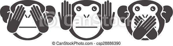 monkey., vektor, baggrund - csp28886390