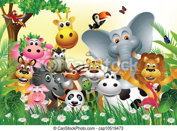 morsom, cartoon, dyr - csp10519473