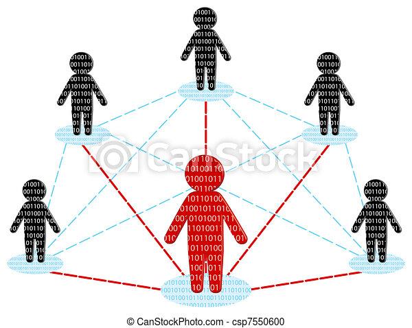 netværk, firma, concept., communication., illustration, vektor, hold - csp7550600
