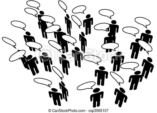 netværk, folk, medier, kommunikere, tale, forbinde, sociale - csp3565107