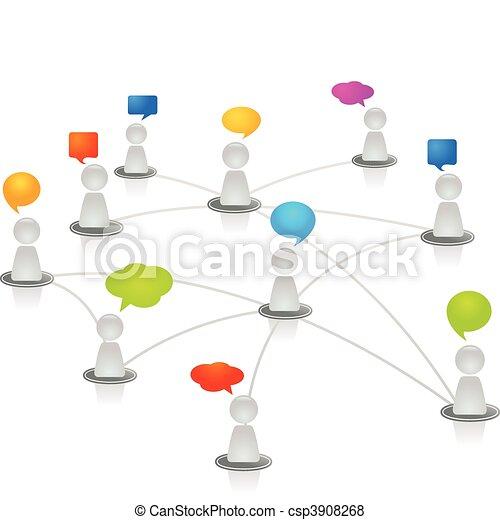 netværk, menneske - csp3908268