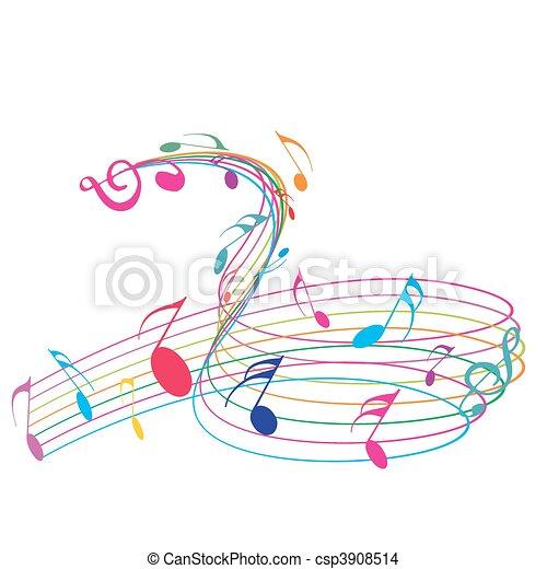 notere, musik - csp3908514