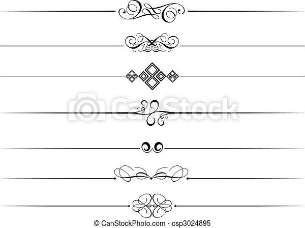 ornamental, dividers, side - csp3024895