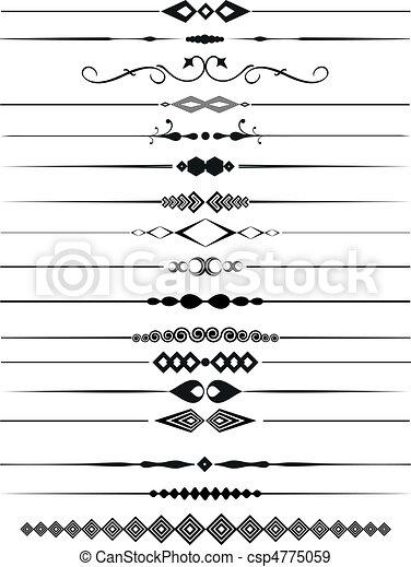 ornamental, dividers, side - csp4775059