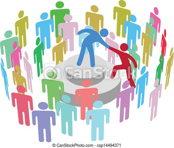 person, tal, gruppe, hjælper, leder - csp14494371