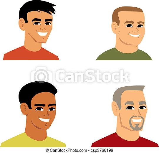 portræt, avatar, cartoon, illustration - csp3760199