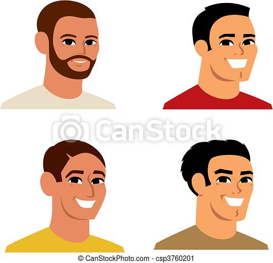 portræt, avatar, cartoon, illustration - csp3760201