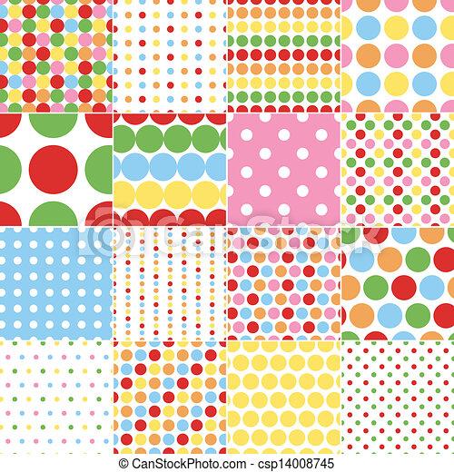 prikker, cirkel, polka, seamless - csp14008745