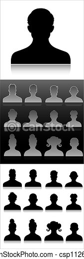 profil, symboler - csp11260653