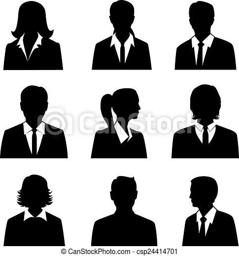 sæt, avatars, firma - csp24414701