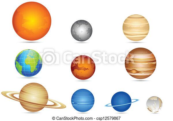 sæt, planetter - csp12579867