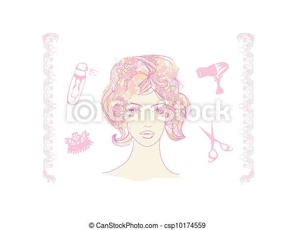salon, hairdresser, pige - csp10174559