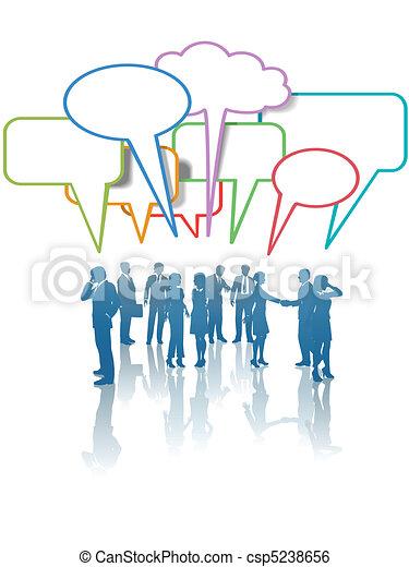 samtalen, branche folk, netværk, kommunikation, medier, farver - csp5238656