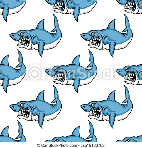 skrap, haj, rovdyrsagtig, svømning - csp19183783