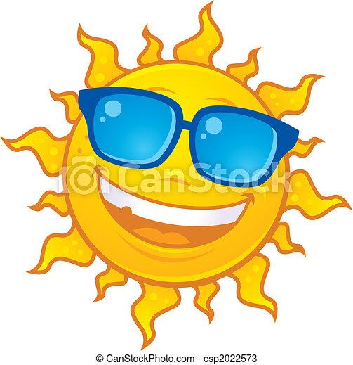 slide, sol, sunglasses - csp2022573