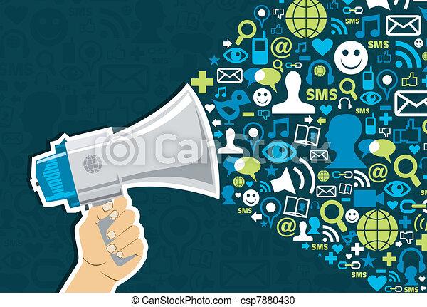 sociale, medier, markedsføring - csp7880430