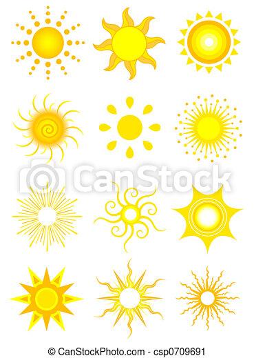 sol, iconerne - csp0709691