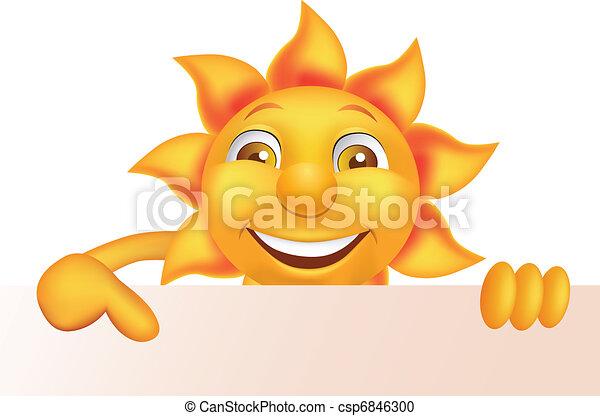 sol, karakter, cartoon - csp6846300