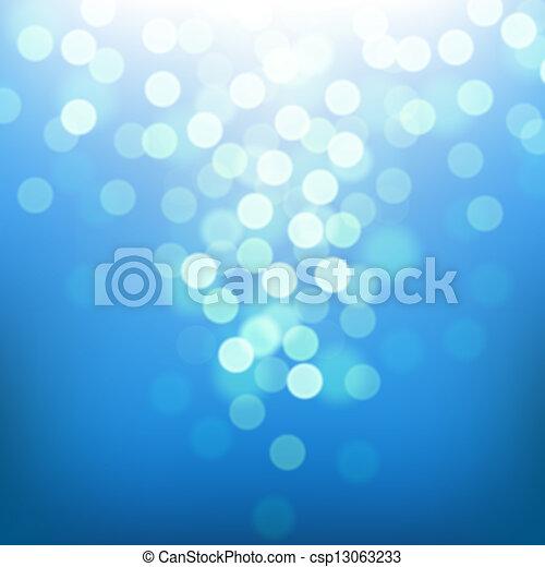 sol, klar, hav, farverig, slør - csp13063233