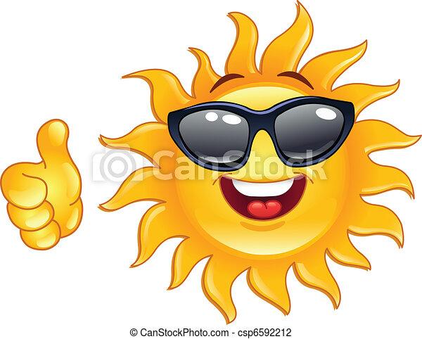 sol, tommelfinger oppe - csp6592212