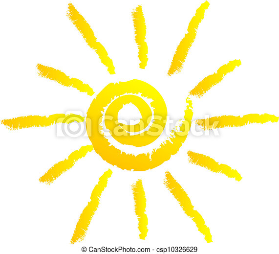 sol, vektor, illustration - csp10326629