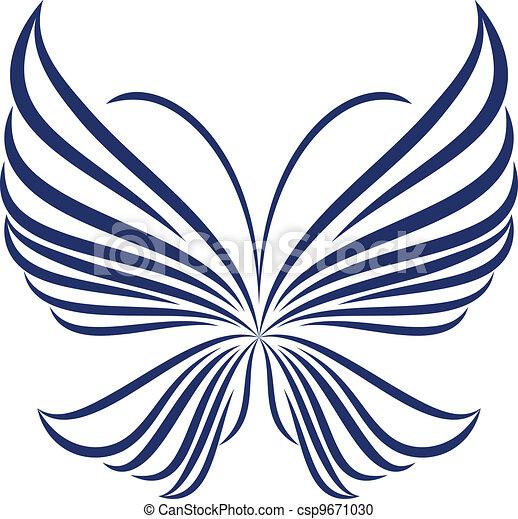 sommerfugl, abstrakt - csp9671030