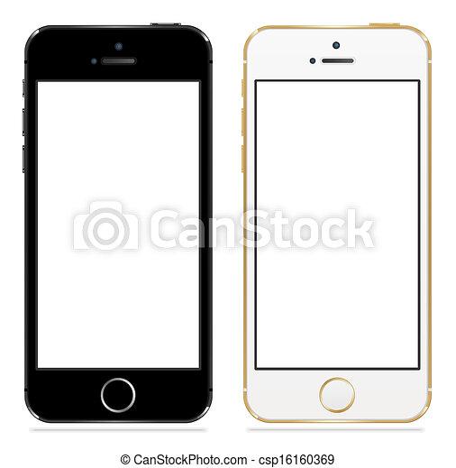 sort, iphone, 5s, æble, hvid - csp16160369