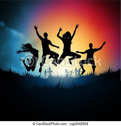 springe, unge voksne - csp2442934